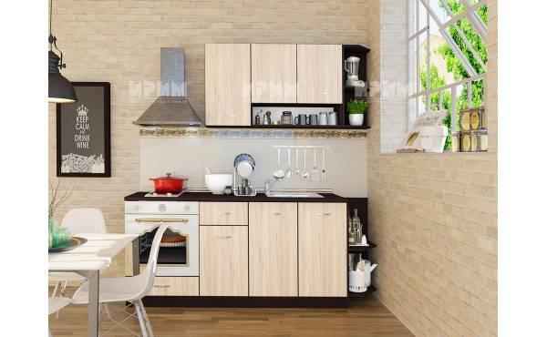 Кухня Сити 234 в цвят венге и астра