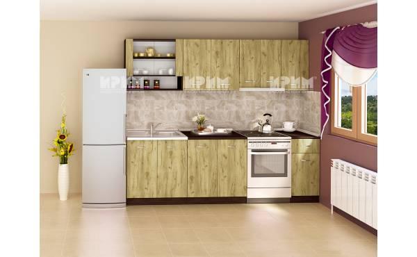 Кухня Сити 238 в цвят венге и дъб гран сасо