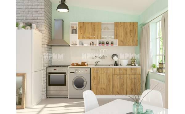 Кухня Сити 420 в цвят дъб гран сасо и бяло