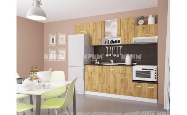 Кухня Сити 424 в цвят дъб гран сасо и бяло