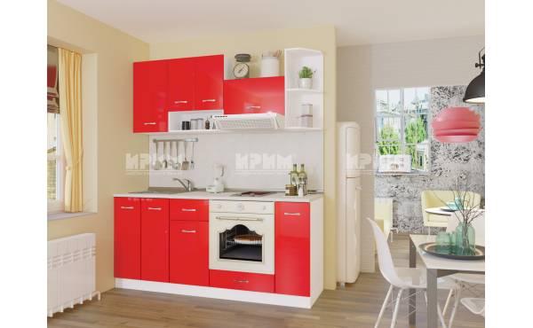 Кухня Сити 447 в червен гланц