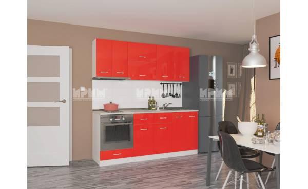 Кухня Сити 450 в червен гланц
