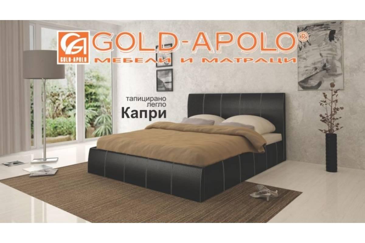 3e9fb70b04a Тапицирано легло Капри - черно - Топ Цени   Мебели Онлайн ...