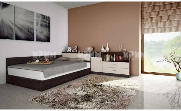Легло приста с ракла и шкафове Сити 7003