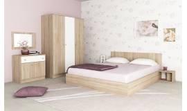 Спален комплект Мареа 1 в дъб сонома и бяло